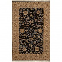 Couristan Traditional Jangali All Over Isfahan Antique Ivory / Black Oriental Rug - 1207/0207 - Wool Rugs - Area Rugs by Material - Area Rugs