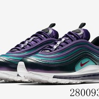 HCXX 19July 982 Nike Air Max 97 GS AV3181-500 Flyknit Breathable Running Shoes