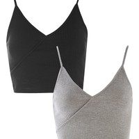 **Wrap Crop Top Multipack | Topshop