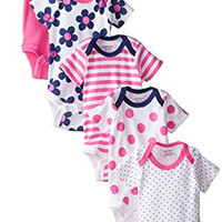 New Born Baby Girls' 5 Pack Variety Bodysuits