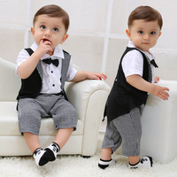 baby clothes gentleman baby boys rompers wedding paty newborn baby clothes