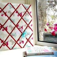 Hand Crafted Fabric Notice Board/French Memory Board/Memo Board