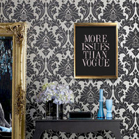 More issues than Vogue poster print Fashion print Typography art Chalkboard art Black Boudoir bedroom Wall decor Peach distressed lettering