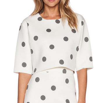 J.O.A. Dotted Top in Ivory