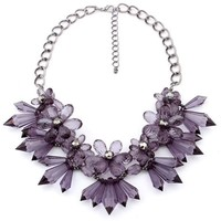 Gift New Arrival Jewelry Shiny Stylish Crystal Floral Necklace [6586364487]