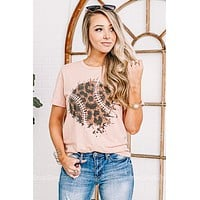 Leopard Baseball Graphic Tee