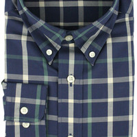 Lafitte Tattersall in Navy and Green by Southern Marsh