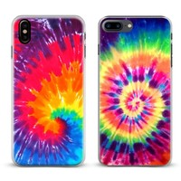 Tie dye Hippie Art Rainbow Hipster Phone Case Cover Shell For Apple iPhone X 8Plus 8 7Plus 7 6sPlus 6s 6Plus 6 5 5S SE 4s 4