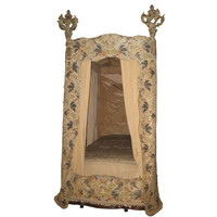 18th C Italian Canopy Bed with 17th C Textiles Museum Quality