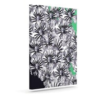 "Sonal Nathwani ""Flowers on Green"" Outdoor Canvas Wall Art"
