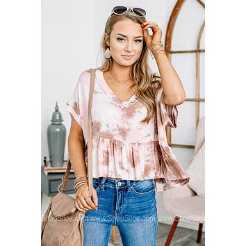 To Dye For Cropped Babydoll Top