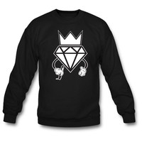 diamond crown graffiti sweatshirt