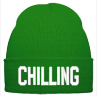 CHILLING EMBROIDERY HAT