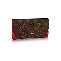 Louis V uitton Monogram Canvas Sarah Wallet Retiro Article:M61184