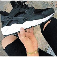 Nike Air Huarache 1 Fashion New Women Hurache Multicolor Bottom Running Sport Casual Shoes Sneakers Black