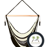 Noir Hammock Chair - 100% Hand Woven - Perfect for one child, teen or adult!