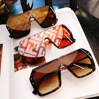 Fendi fashion brand female models frameless retro polarized sunglasses