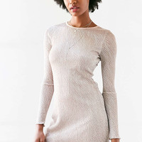 Kimchi Blue Claudia Crinkle Shimmer Long-Sleeve Dress - Urban Outfitters