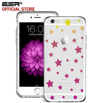 ESR Hybrid Case Soft TPU Corner Hard Back Cover Case with Pattern for iPhone 6 Plus/6s Plus