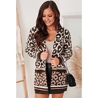 My True Colors Leopard Print Cardigan (Taupe/Brown)