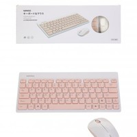 Wireless Mouse and Keyboard Set ( White and Pink ) - MINISO Australia