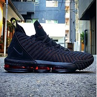 Nike Lebron 16 Buzz LBJ16 Fashion New Hook Women Men Sports Leisure Running Shoes Black