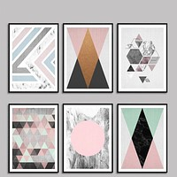 Nordic Modern Geometric Abstract Painting Photo Wall Pictures For Living Room Decorative Painting HD Poster Canvas Painting