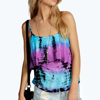 Ella Bright Tie Dye Coin Trim Cami