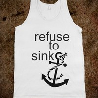 Refuse To Sink-Unisex White Tank