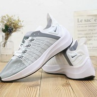 HCXX N486 Nike Zoom EXP-X14 Flyknit Breathable Runninng Shoes White Grey