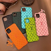 LV Louis Vuitton Tide brand half-pack hard shell iPhone 11pro max mobile phone case