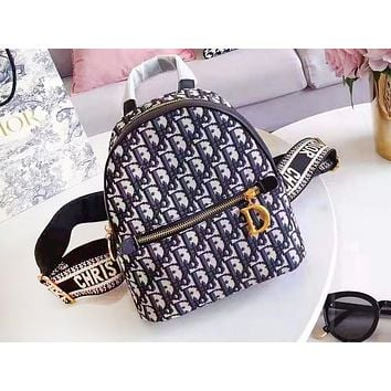 DIOR fashion casual lady backpacks are selling full of printed backpacks