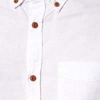 River Island Oxford Shirt in White at asos.com