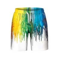 Men's Summer Casual Plus Size 3D Printed Beach Shorts Pants Casual Shorts A30