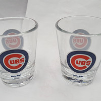 Chicago Cubs Shot Glass - 2 Pack Clear