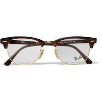 Ray-Ban - Clubmaster Tortoiseshell Acetate And Metal Optical Glasses | MR PORTER