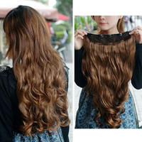 Light Brown Clip-on Hair Extension 21.7""
