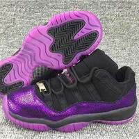 DCCK Air Jordan 11 Retro Purple Flaw Basketball Shoe