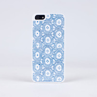 iPhone Case in Cool Blue Pattern