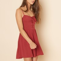 Lace Up Fit N Flare Dress
