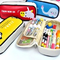 NiceGirl(TM) Large Storage Pencil Case Pencil Holder Cosmetic Makeup Pouch Zipper Bag Elephent