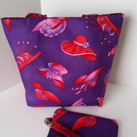 Red Hat totebag and wristlet