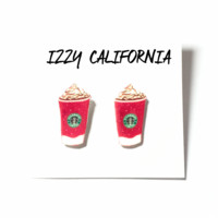 Starbucks Frappe Stud Earrings