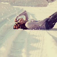cold, girl, snow, the winter is so warm, ... - inspiring picture on Favim.com