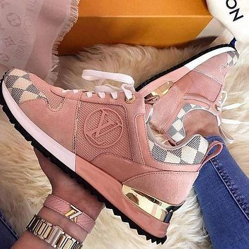 LV Louis Vuitton hot sale classic color matching men's and women's casual shoes sneakers