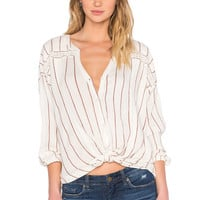 AMUSE SOCIETY Lennox Top in Moccasin