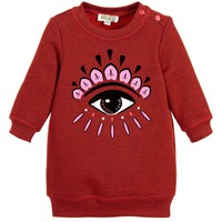 Baby Girls Red Classic 'Eye' Sweater Dress