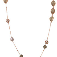 Pave, Glass & Smokey Pearl Layering Necklace   Anabelle Necklace   Stella & Dot