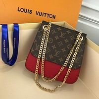 LV Louis Vuitton WOMEN'S MONOGRAM CANVAS Miuccia INCLINED CHAIN SHOULDER BAG