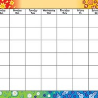 Trend Enterprises Four SeasonsWipe-Off Monthly Calendar Grid (T-1170)